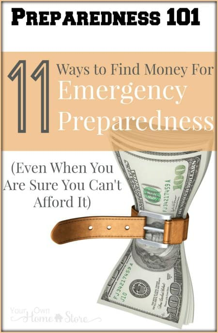 If being prepared is important to you, then you can find money for emergency preparedness. Let me help with these 11 tips.