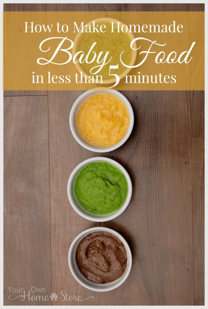 This homemade baby food is crazy healthy, economical and takes just minutes to make!