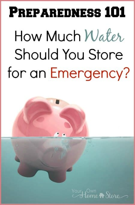 Do you know how much water you should store for an emergency? It can be difficult and overwhelming to plan for / calculate! Click to find a quick printable worksheet that will help you nail down what you will need in a water shortage or contamination situation.!