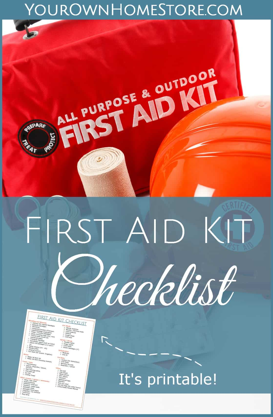First Aid Kit Checklist | Mom and RN approved