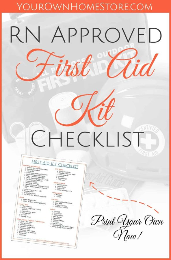 First Aid Kit Checklist | Mom and RN approved first aid kit | Ideas for first aid kit