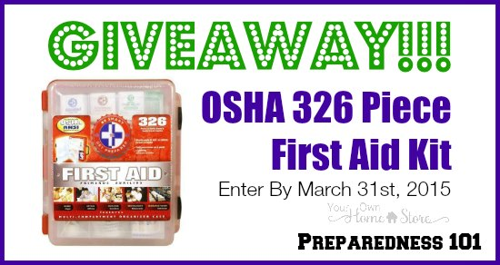 First Aid Kit Giveaway