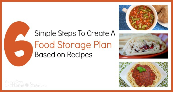 Six steps to create a recipe based food storage plan simple family food storage based on recipes your family actually eats is easy to rotate and use in forumfinder Image collections