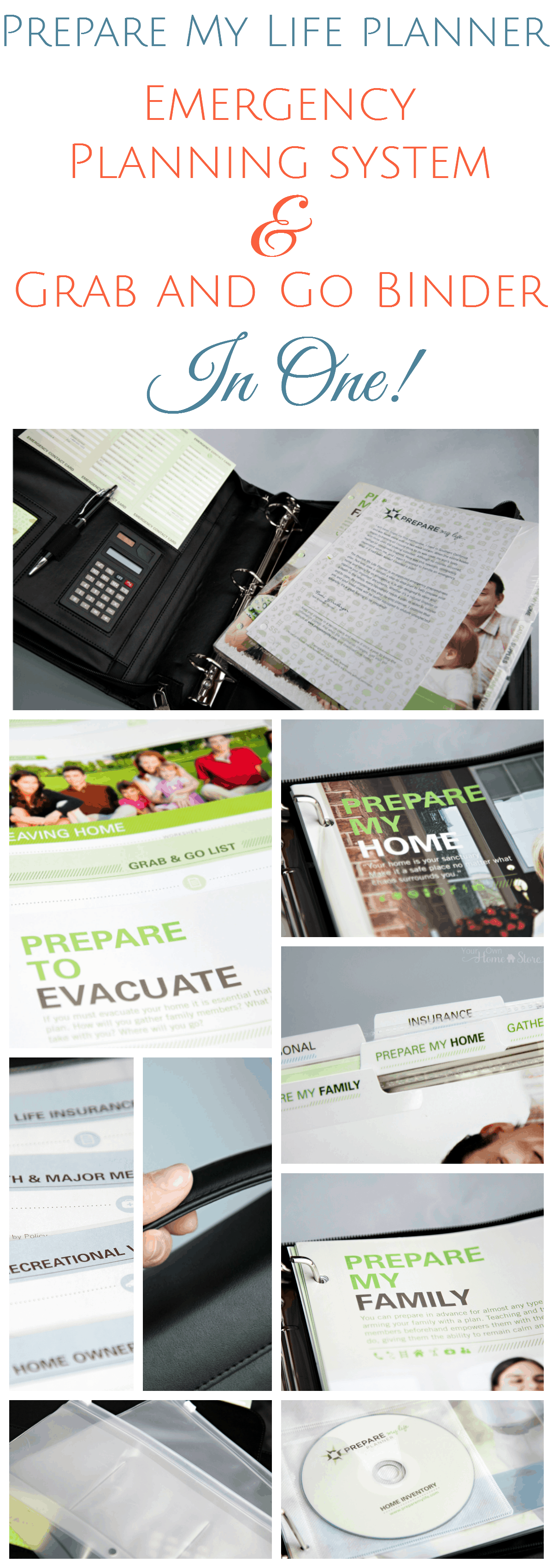 The Prepare My Life Planner: A emergency planning tool and grab and go binder in one