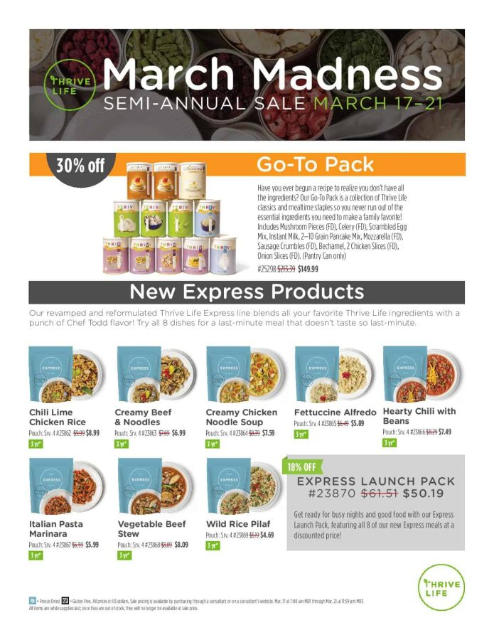 Thrive Life March Madness Page 1