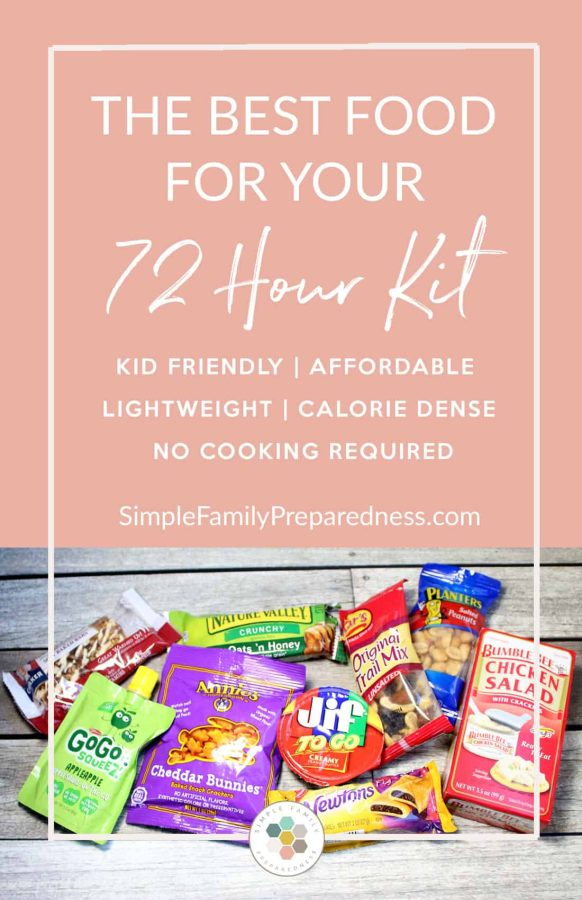 72 hour kit food ideas | kid friendly food for your 72 hour kit | 72 hour kit food list