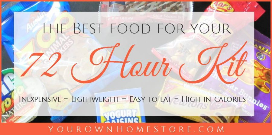 72 hour kit food ideas | Smart food for your 72 hour kit | no-cook 72 hour kit food