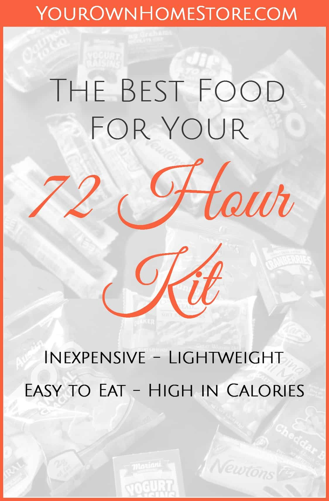 non-cook 72 hour kit foo | Smart food for your 72 hour kit | 72 hour kit food ideas