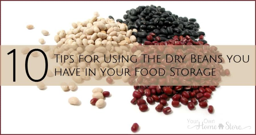 Using dry beans from your food storage