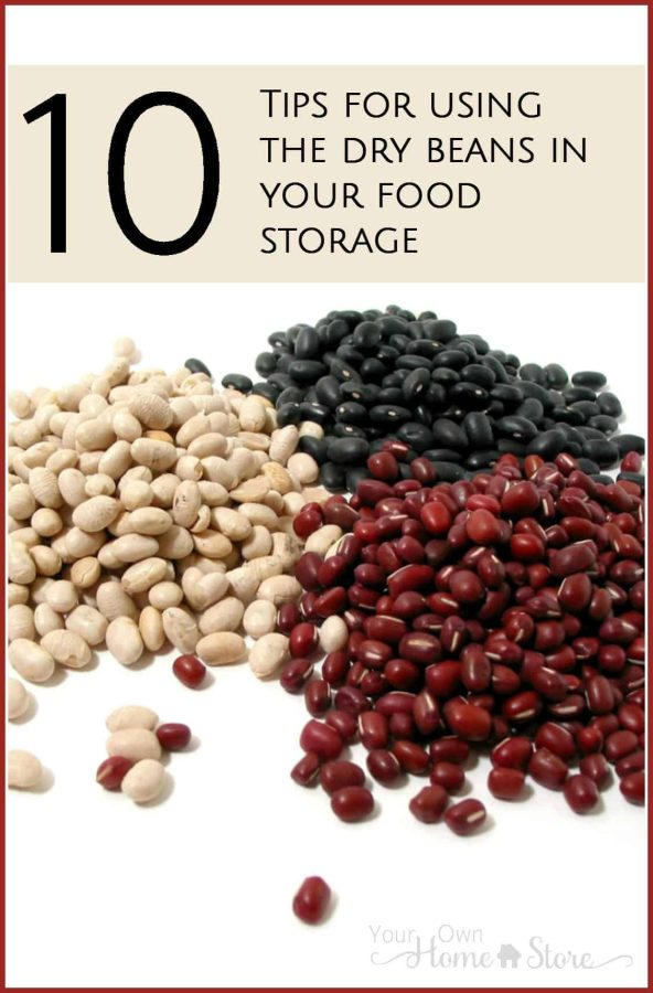 using dry beans from food storage