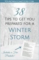 38 Tips to Help You Prepare for a Winter Storm