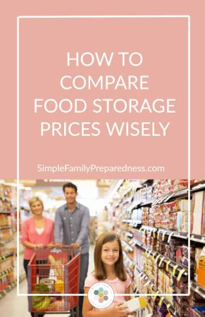 How to compare food storage prices wisely | food storage