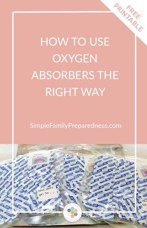 how to use oxygen absorbers | long term food storage