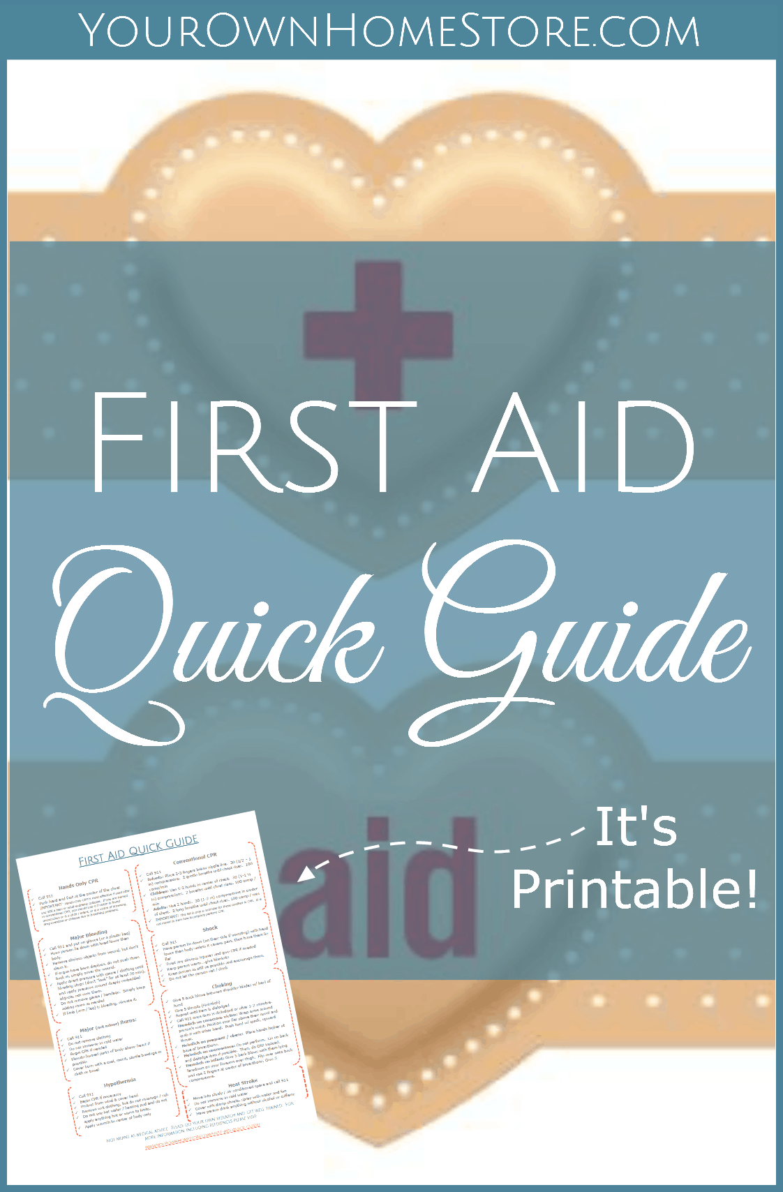 This is a graphic of Dynamite Free Printable First Aid Guide