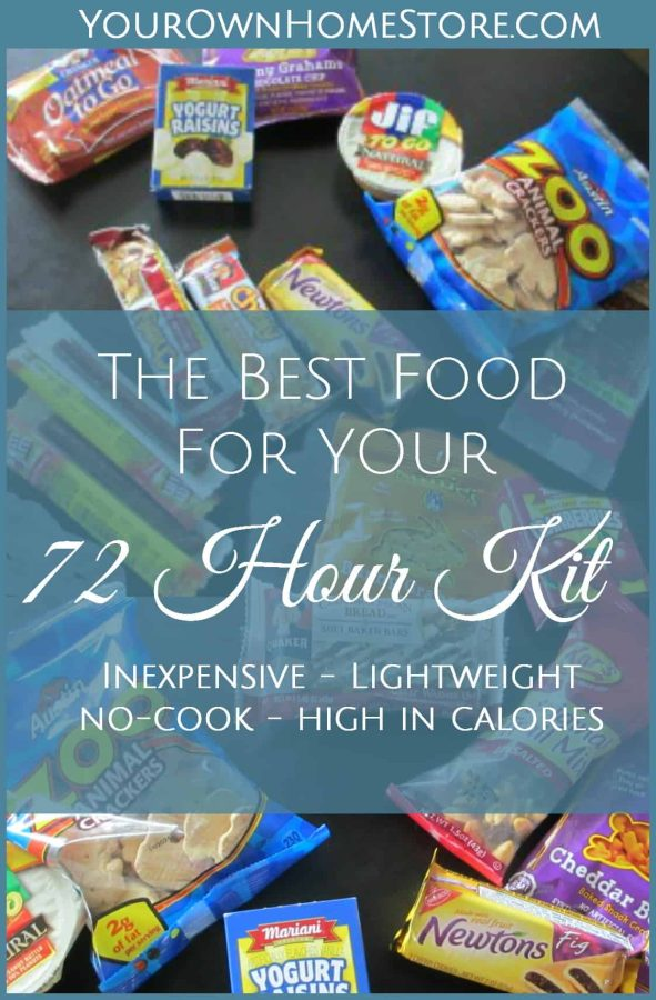 72 hour kit food ideas | Best food for your 72 hour kit