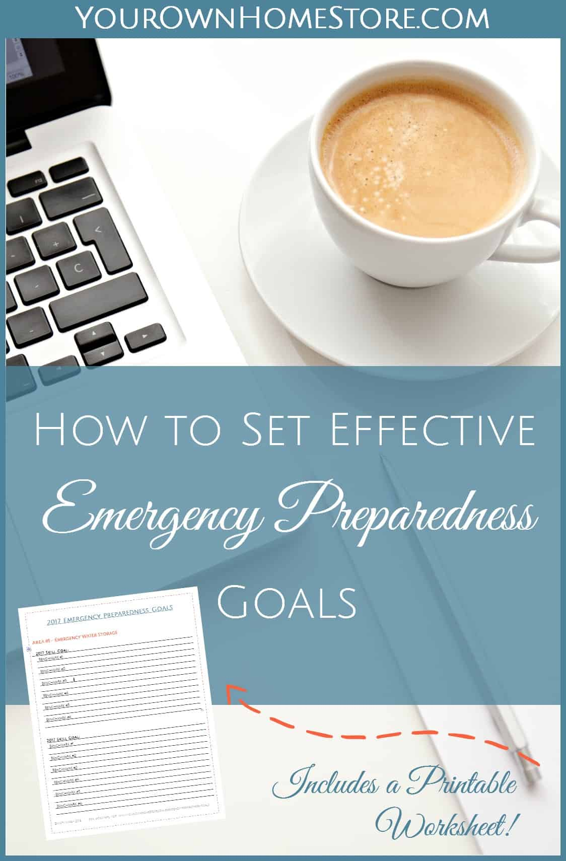 Set effective Emergency Preparedness Goals using this printable worksheet