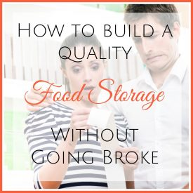 how to build a quality cheap food storage without going broke featured