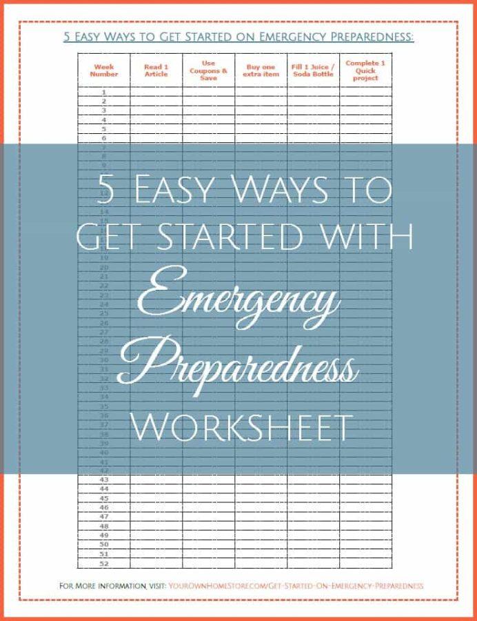 Emergency Preparedness Checklist | 5 easy ways to get started on emergency preparedness