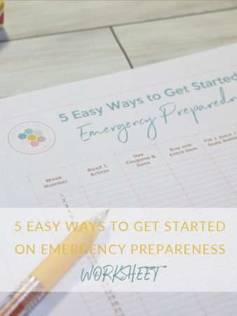 5 easy ways to get started on emergency preparedness worksheet