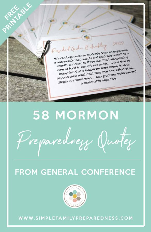 ​ Mormon Preparedness Quotes | 58 Printable Mormon Preparedness Quotes from General Conference plus 32 more preparedness quotes from other great people