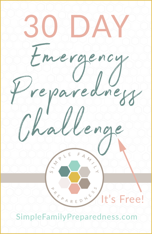 30 Day Emergency Preparedness Challenge | Get more done in 30 days than you have in months with just 5-20 minutes each day. By Simple Family Preparedness for National Preparedness Month