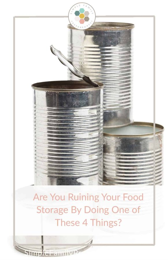 Don't Ruin Your Food Storage.  Please don't invest in food storage if you don't plan to keep it safe. Make sure you don't ruin your food storage it in one of these four ways.