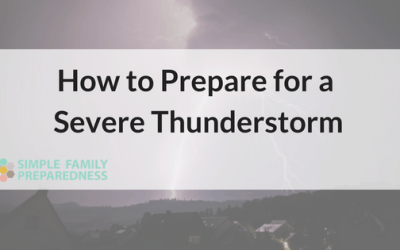 Thunderstorm Preparedness; How to Be Prepared