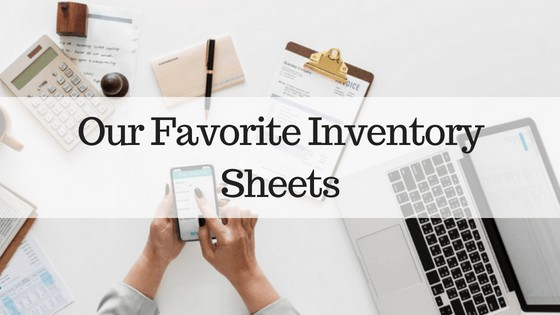 Our Favorite Inventory Sheets