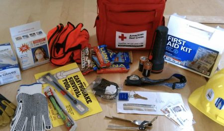 Photo's of Emergency Kit, First Aide kit to help with severe weather preparedness
