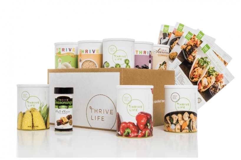 Thrive life packs with recipes