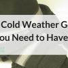 Hat, mittens and socks best Cold Weather Gear You Need to Have - cold weather gear