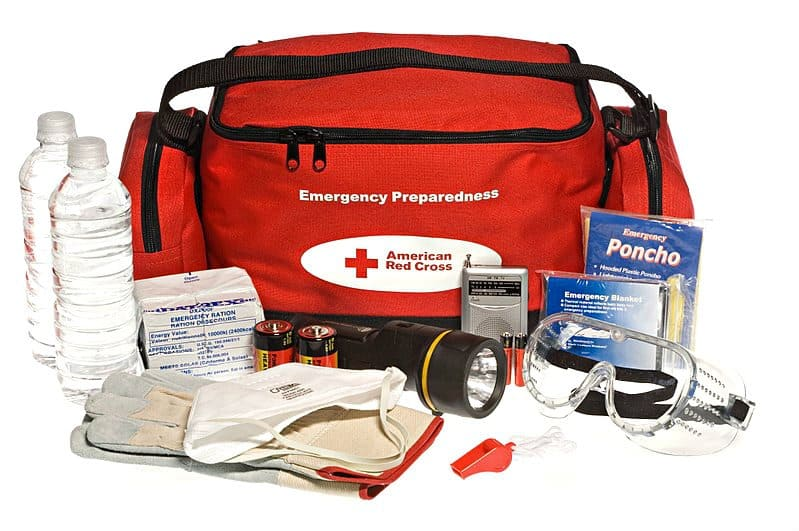 Emergency Kit, Medical Supplies, flashlight to use for thunderstorm preparedness