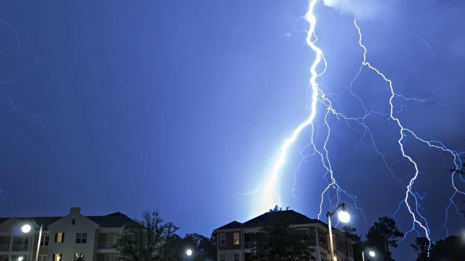 Lightning striking hard - thunderstorm preparedness