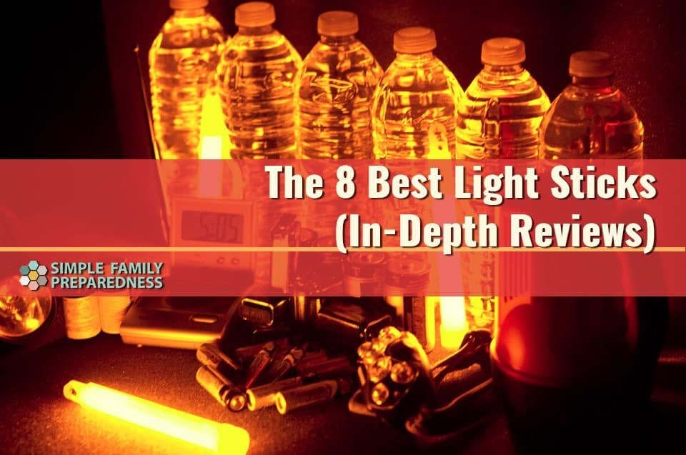 The 8 best light sticks. Photo of glow sticks in bottles during blackout.