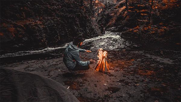 bon fire-camping